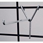 "(Chrome) 4"" Long Y-Back Grid Hook"
