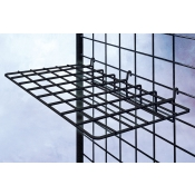 "(Black) 24"" Grid Hardware Shelf"