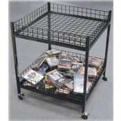 Dump Bins (Black) 2-Tier Mobile Merchandiser Table