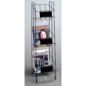 3 Pocket Magazine Rack (Black)