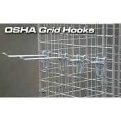 "(White) 6"" Osha Grid Hook"
