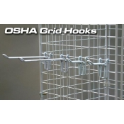 "(White) 8"" Osha Grid Hook"
