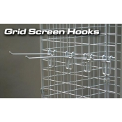 "(White) 4"" Grid Screen Hook"