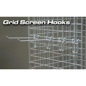 "(White) 6"" Grid Screen Hook"