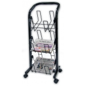 (Black) 3-Tier Newspaper Merchandiser