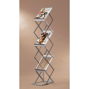 (Silver) Decora Literature Stand- Single