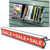 "(White) Plastic 12"" Ticket Channel Strip"