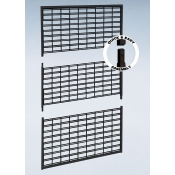 "(Black)48"" X 84"" K/D Slatgrid Wall Panel"