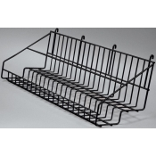 "(Black) 23"" Grid 2-Tier Basket"
