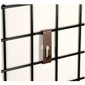 "(Ant. Bronze) Notch Hook / 3"" O.C. Gridwall"