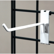 "(White) 4"" Grid Hook / 3"" O.C. Gridwall"