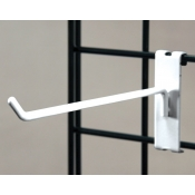 "(White) 6"" Grid Hook / 3"" O.C. Gridwall"