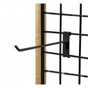 "(Black) 6"" Grid Hook / 3"" O.C. Gridwall"