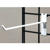 "(White) 8"" Grid Hook / 3"" O.C. Gridwall"