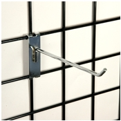 "(Chrome) 8"" Grid Hook / 3"" O.C. Gridwall"