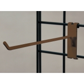 "(Ant. Bronze) 8"" Grid Hook / 3"" O.C. Gridwall"