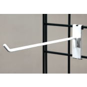 "(White) 10"" Grid Hook / 3"" O.C. Gridwall"