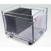 (Silver) Wire Mesh Office Caddy
