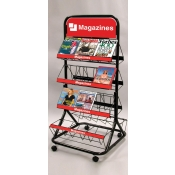 (Black) 2-Sided Magazine Merchandiser