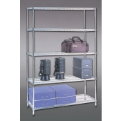 "(Chrome) 63"" X 18"" X 48"" Shelving Rack"