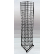 (Black) 3-Way Grid Tower