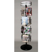 (Black) 16 Pocket Spinner Rack
