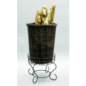 Large Willow Basket Pedestal Stand