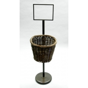 Single Oval Willow Basket Display