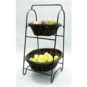 2-Tier Oval Willow Baskets Display