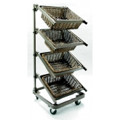 4 Tier Waterfall Merchandiser ( Small Basket )
