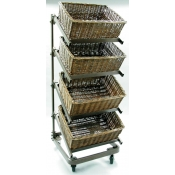 4 Tier Waterfall Basket Merchandiser ( Large Baskets )
