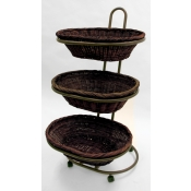 3 Tier Oval Willow Basket Merchandiser