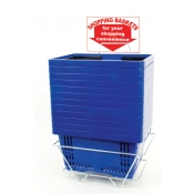 Shopping Baskets (12 Basket Set) Blue Standard-Size Shopping Baskets/Plastic Handles