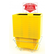 Shopping Baskets (12 Basket Set) Yellow Standard-Size Shopping Baskets/Plastic Handles