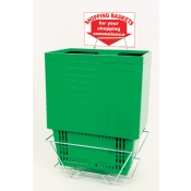 Shopping Baskets (12 Basket Set) Green Standard-Size Shopping Baskets/Plastic Handles