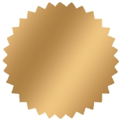 "Gold -1.75"" Starburst Stock Label (500/Rl)"