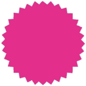 "Flour Pink -1.75"" Starburst Stock Label (500/Rl)"