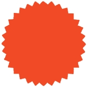 "Flour Red -1.75"" Starburst Stock Label (500/Rl)"