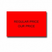 Two-Line Price Label(Reg-Your Price)