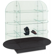 Oval Glass Display (Black)
