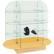 Oval Glass Display (Maple)