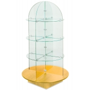 Rotating Glass Display (Maple)