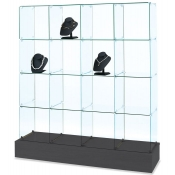 4 - Tier Rectangular Glass Tower (Black)