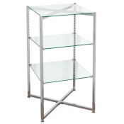 Folding Glass Tower Etageres (3 Glass Shelves)