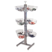 12-Bowl Slotted Tower Merchandiser