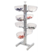 8-Bowl Slotted Tower Merchandiser