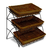 3-Tier Willow Basket Tray Display