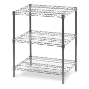"3-Shelf Wire Storage Rack (18""W x 36""L x 30""H - Chrome)"