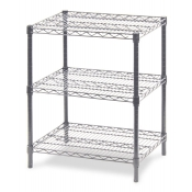 "3-Shelf Wire Storage Rack (18""W x 48""L x 30""H - Chrome)"