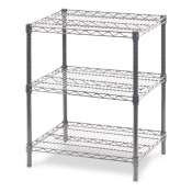 "3-Shelf Wire Storage Rack (18""W x 60""L x 30""H - Chrome)"